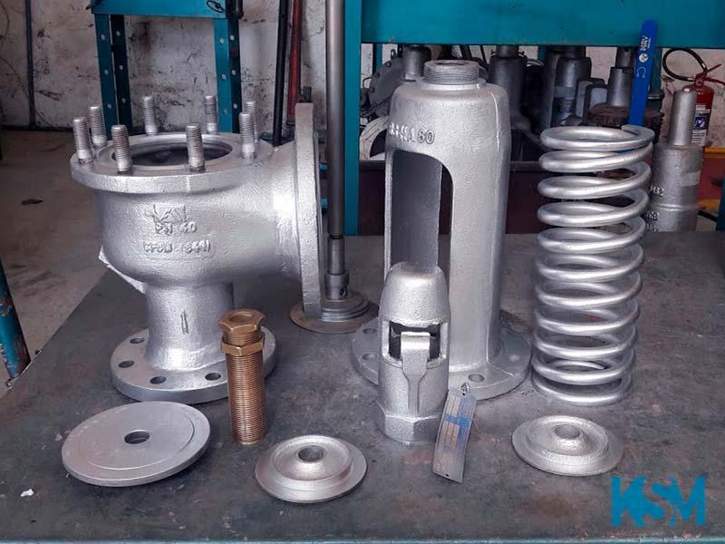 Manutenção em válvulas de vapor